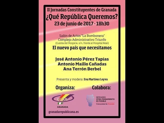 El nuevo país que necesitamos - Debate entre Pérez Tapias, Antonio Maíllo y Ana Terrón