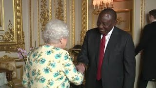 Queen meets with Ramaphosa, South Africa's new president
