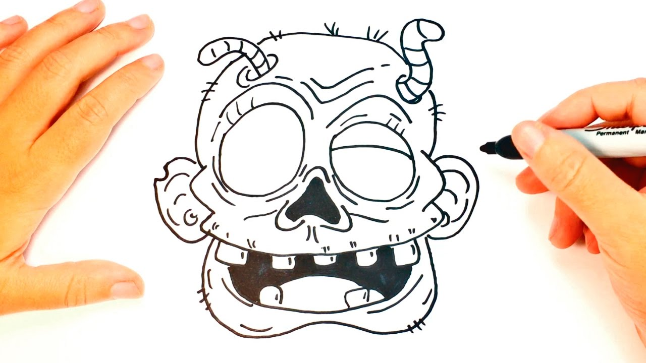 Uncategorized Simple Zombie Drawing how to draw a zombie easy tutorial youtube tutorial