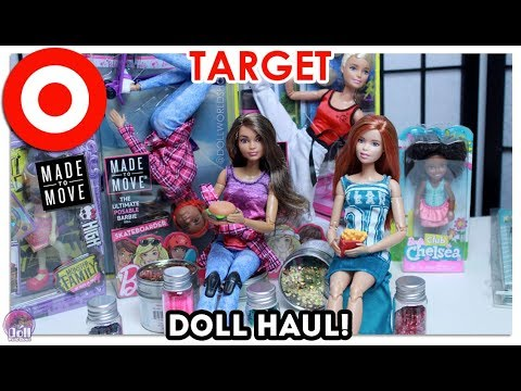 Target Barbie Haul! Made to Move Skater, Monster High & Craft Supplies