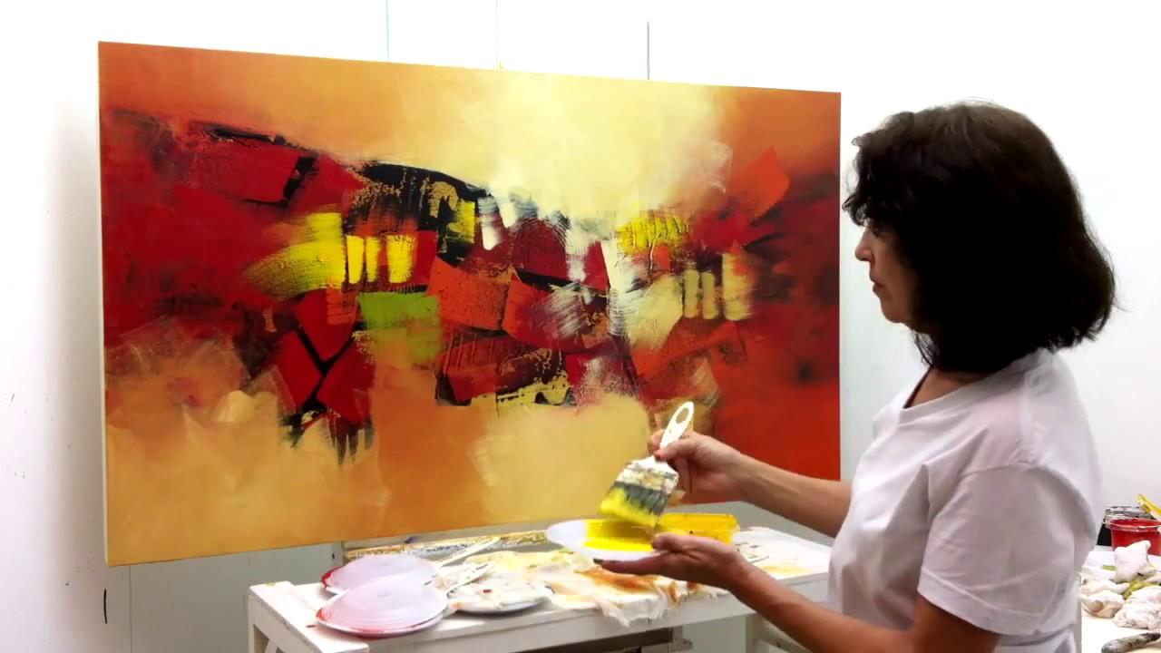 Pintura em tela demonstra o 1 kitaro youtube - Como pintar sobre tela ...