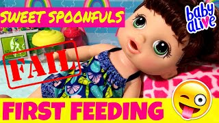 Video 😳What Is Wrong With My Doll?! 😜 Baby Alive Sweet Spoonfuls Baby Unboxing & First Feeding! Fail?🤔 download MP3, 3GP, MP4, WEBM, AVI, FLV Juli 2018