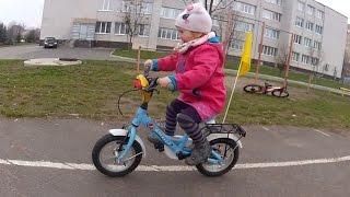 Как БЫСТРО научить ребенка кататься на велосипеде! Марта 3 года на двухколесном велосипеде!
