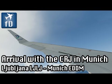 [P3D] Taking the CRJ for a short ride to Munich (Part 2)