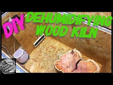 DIY dehumidifying wood kiln