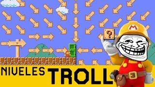 ME TROLEAN DE FORMAS QUE NO IMAGINABA 😵 - NIVELES TROLL #16 | Super Mario Maker - ZetaSSJ