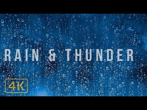 🎧⚡️ 1 HOUR GENTLE THUNDER & RAIN Relaxing Nature Sounds Study, Sleep, Focus, Meditation, White Noise