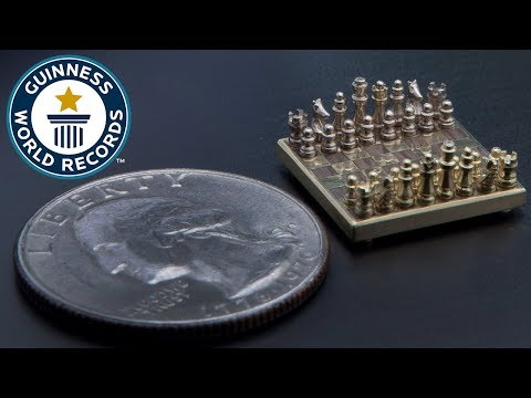 Smallest chess set - Guinness World Records