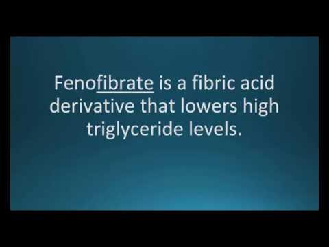 How to pronounce fenofibrate (Tricor) (Memorizing Pharmacology Flashcard)