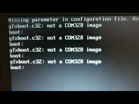 Linux error quick fix ! gfxboot.c32: not a COM32 image boot