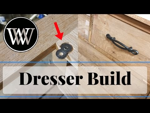 Hand Tool White Oak Dresser Part 9 Hardware l How To Woodworking Project