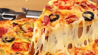 Как приготовить супер пиццу.(В этом видео как быстро приготовить достаточно вкусную пиццу и достаточно быстро., 2015-01-21T19:09:45.000Z)