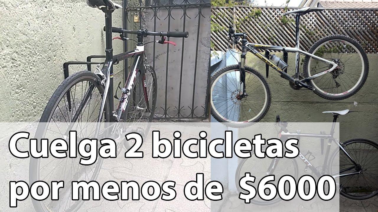 Soporte para bicicletas o colgador de bicicletas h galo for Como guardar bicis en un piso