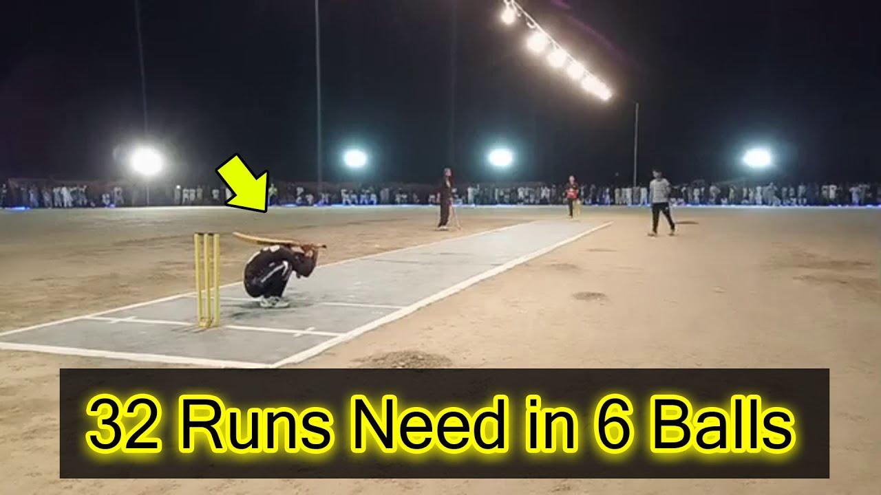 32 Runs Required in Last 6 Balls Amazing Performance Young Batsman