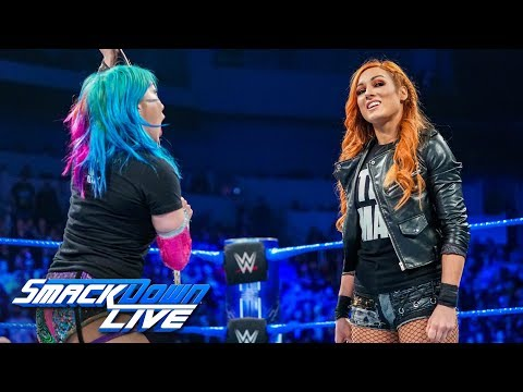 Asuka punches Becky Lynch during heated confrontation: SmackDown LIVE, Jan. 22, 2019