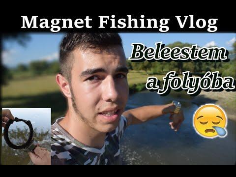 Beleestem a folyóba!!  MÁGNESHORGÁSZAT  #Vlog thumbnail