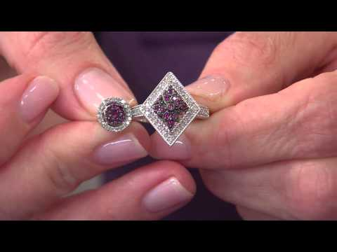Purple Diamond Ring Sterling 1/4 cttw, by Affinity with Jennifer Coffey