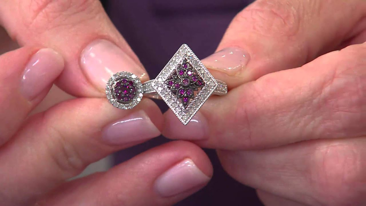 Purple Diamond Ring Sterling 1/4 cttw, by Affinity with Jennifer ...