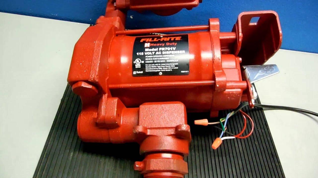 medium resolution of fill rite fr701v youtube fill rite 115v pump wiring diagram