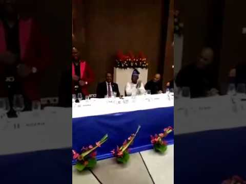 Minister of state for Petroleum resources, Ibe Kachikwu, shows off dancing skills