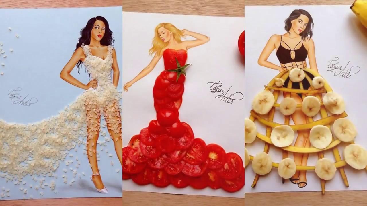 4c74e92c2e5 рисунки девушек с очаровательными платьями из... - YouTube