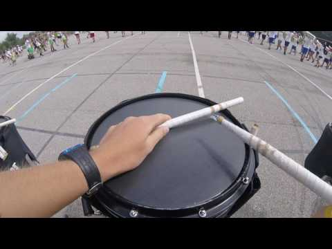 9/17/16 Floyd Central Marching Band Snare Cam