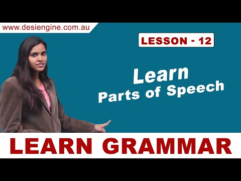Lesson - 12 Learn Parts of Speech | Learn English Grammar | Desi Engine India