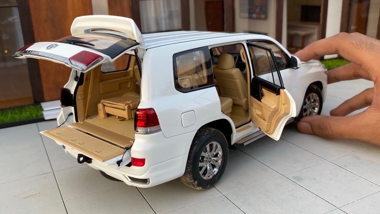 Realistic Mini Toyota Land Cruiser SUV Diecast Model Car Unboxing | Miniature Automobiles