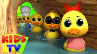 Пять маленьких уток Музыка для детей Kids Tv Russia Детские стишки Дошкольные видео