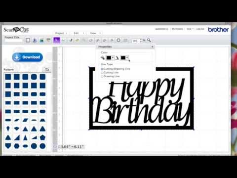 How to make ScanNCut Canvas Word Frames - YouTube