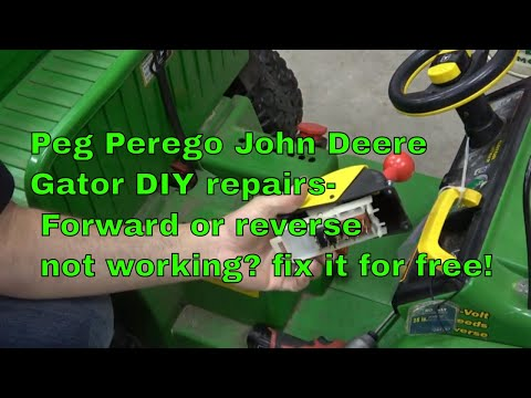 Peg Perego Gator- DIY Repair Of Gear Switches Reverse And Forward Speeds
