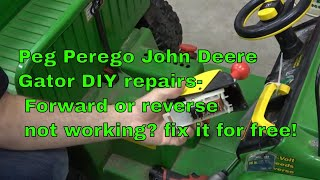 Peg Perego Gator- DIY repair of gear switches reverse and forward speeds -  YouTubeYouTube