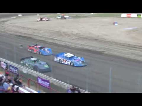 UMP Late Model Heat Race #1 at I-96 Speedway on 07-12-2018