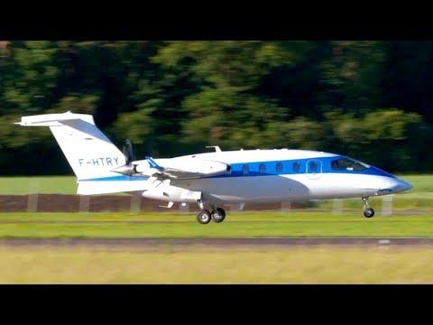 NEW Piaggio P180 Avanti EVO (F-HTRY) *  Landing at Bern