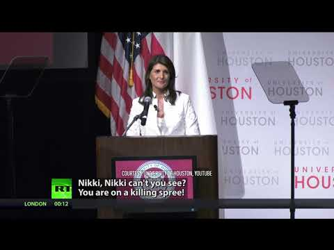 'You sign off on genocide': Protesters attack Haley over Palestine