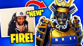 DAEQUAN REACTS À 'NEW' MUSHA ' HIME SKINS (NINJA SKINS) Fortnite Bataille Royale