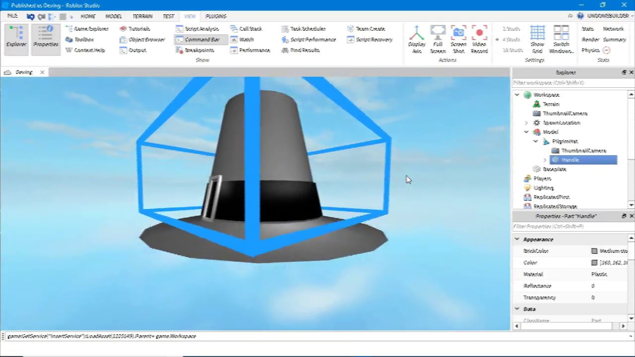 Catalog Import Tool Roblox Importing Roblox Gears Animations And Accessories Youtube