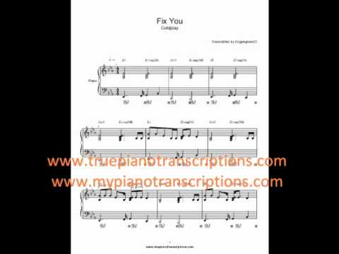 Fix You Coldplay Sheet Music