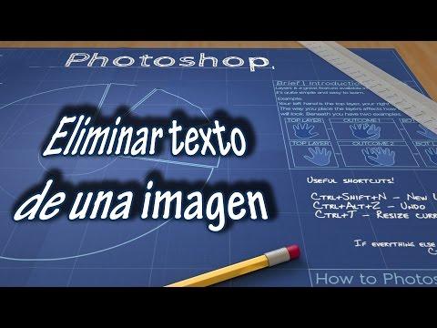 Cómo ELIMINAR TEXTO DE UNA IMAGEN | TUTORIAL PHOTOSHOP CC