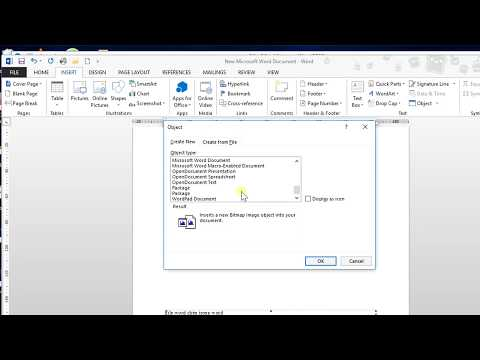 Microsoft Word 2013 - 32.Chèn trực tiếp nội dung file Excel, Powerpoint, Word (Object)