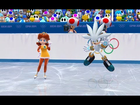 Mario And Sonic At The Sochi  Olympic Winter Games Figure Skating Pairs  Youtube