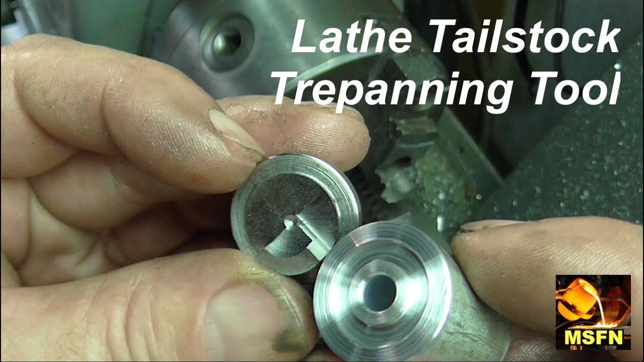 qwik clip custom tailstock trepanning tool for the lathe 638