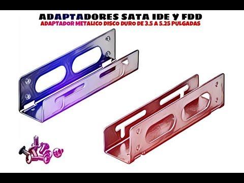 Video de Adaptador metalico disco duro de 3.5 a 5.25 pulgadas