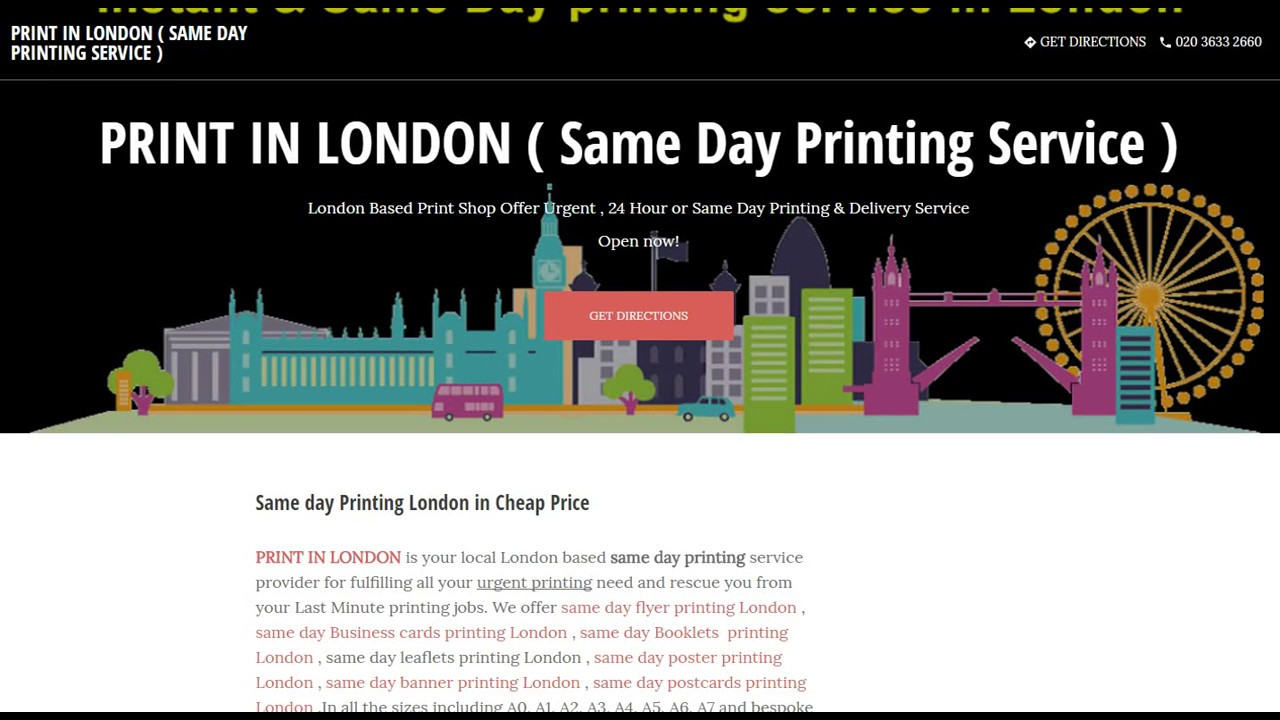 Print in london same day printing service google my business print in london same day printing service google my business website colourmoves Gallery