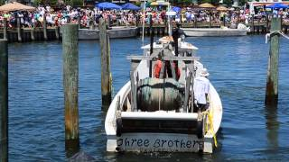 Cape Charles 2012 boat docking contest - Three Brothers