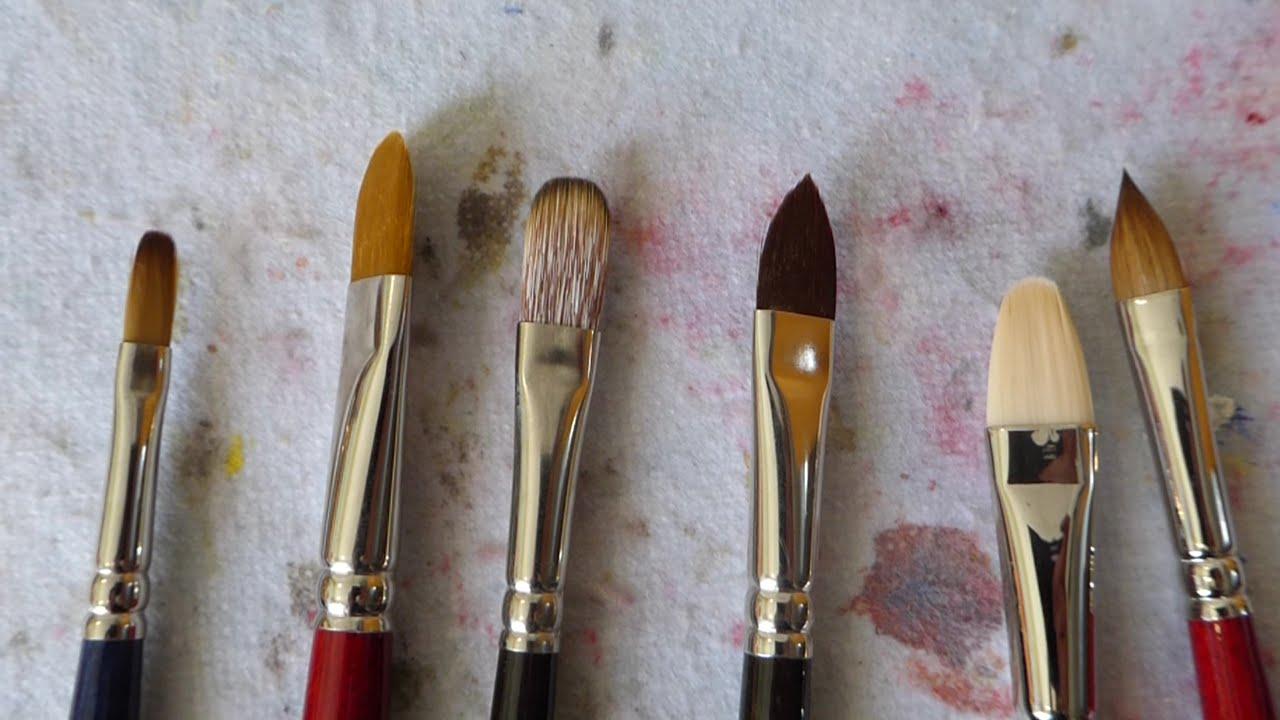 Tipos de pincel i pinceles para leo y acr lico youtube - Tipos de pintura para pared ...
