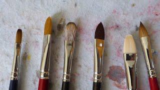 TIPOS DE PINCEL I. Pinceles para óleo y acrílico