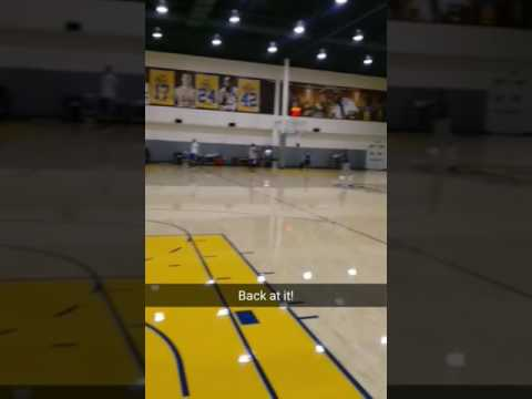 Sights &  Sounds: Warriors practice: Kerr, Durant, Stephen Curry, Draymond, Damian Jones, McCaw