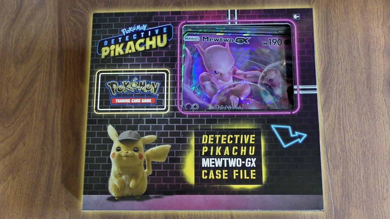 Detective Pikachu Mewtwo Gx Case File Opening Youtube