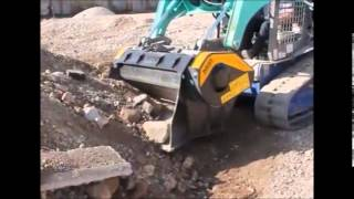 how does mb crusher and screening buckets work